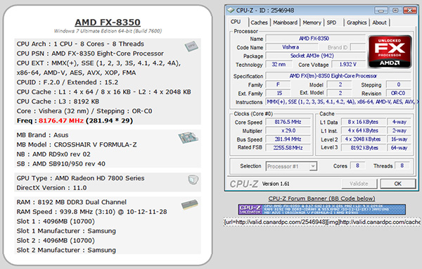 FX-8350 8 176GHz on all eight cores